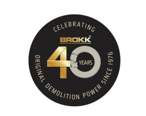 Brokk Inc. celebrates 40 years as the world's leading manufacturer of remote-controlled demolition machines in 2016. Each Brokk machine built in 2016 will feature a golden anniversary seal.