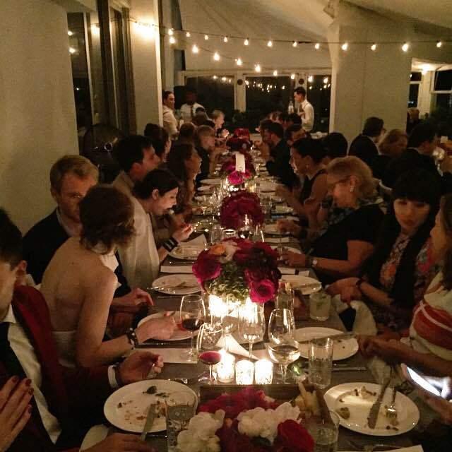The scene at the Swarovski dinner at Design Miami.