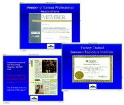 Presentation book essentials include publicity, insurance, and professional credentials.
