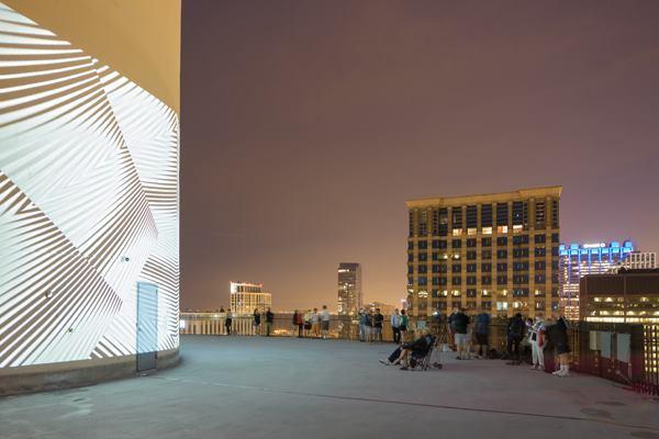 Video installation by Luftwerk with MAS Context at Bertrand Goldberg's Marina City in Chicago.