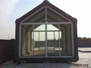 A concrete house designed by WinSun