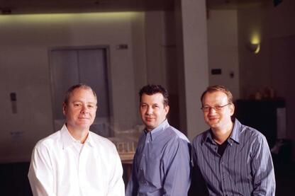 The design team at Zimmer Gunsul Frasca Architects was led by Peter van der Meulen, John Breshears, and Mark Perepelitza (left to right).