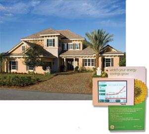 ICI Homes' Emerald model features the GE Dashboard, offering a view into the home's wiring and plumbing--in real-time. The Emerald model fits into GE's Ecomagination program.