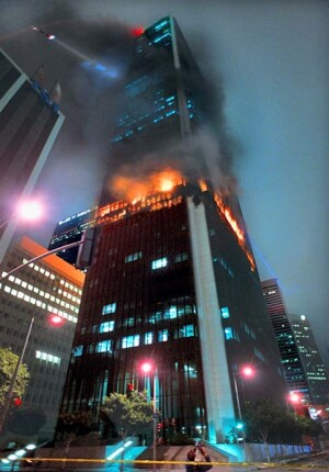 The First Interstate Tower had no perimeter fire containment installed.