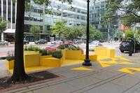 Gensler Designs Bright Yellow Parklet for D.C.