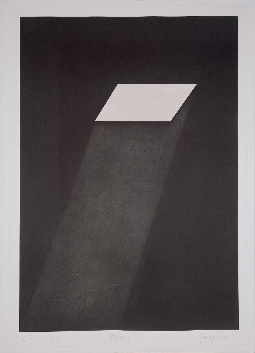 Meeting (from the portfolio First Light), 1989-90  Aquatint, 108 x 75.6 cm  Peter Blum Edition, New York  © James Turrell
