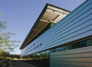 Duranar Vari-Cool coatings reflect the suns energy with pearlescent pigments that use PPG Industrys Ultra-Cool infrared-reflective technology. Available in 17 preformulated standard tints, the fluoropolymer coating changes color according to viewing angle. The Duranar Vari-Cool coating system is suited for roof panels, building panels, curtain walls, storefronts, accents, and corporate signage, and can be applied on aluminum and coated substrates, but not on hot- or cold-rolled steel substrates or exterior exposures. Minor scratches can be easily repaired in the field. The coating has a foundation of Kynar 500 or Hylar 5000 resin. ppgideascapes.com