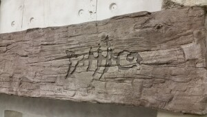 This rustic timber beam is in reality carved concrete!
