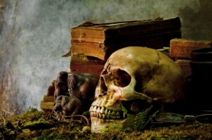 "Image is ""Still Life With A Skull"" by Kamnuan courtesy of FreeDigitalPhotos.net."