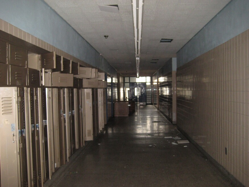 A hallway at Voke in its days as a technical high school.