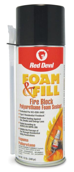 Foam sealants help thoroughly fill voids to prevent flame spread. Fireblocking sealants are tinted orange-red for easy identification during code inspections.