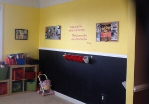 Playrooms and rooms for storage of kids' stuff rule.