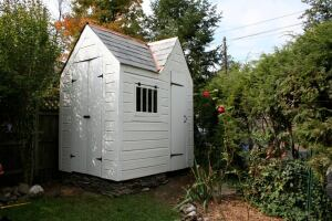 Amy Frick, a student enrolled in the preservation training program at Thaddeus Stevens Technical College, built this shed/playhouse almost entirely with reclaimed materials, including 250-year-old siding salvaged from an old home in Gettysburg, Pa.
