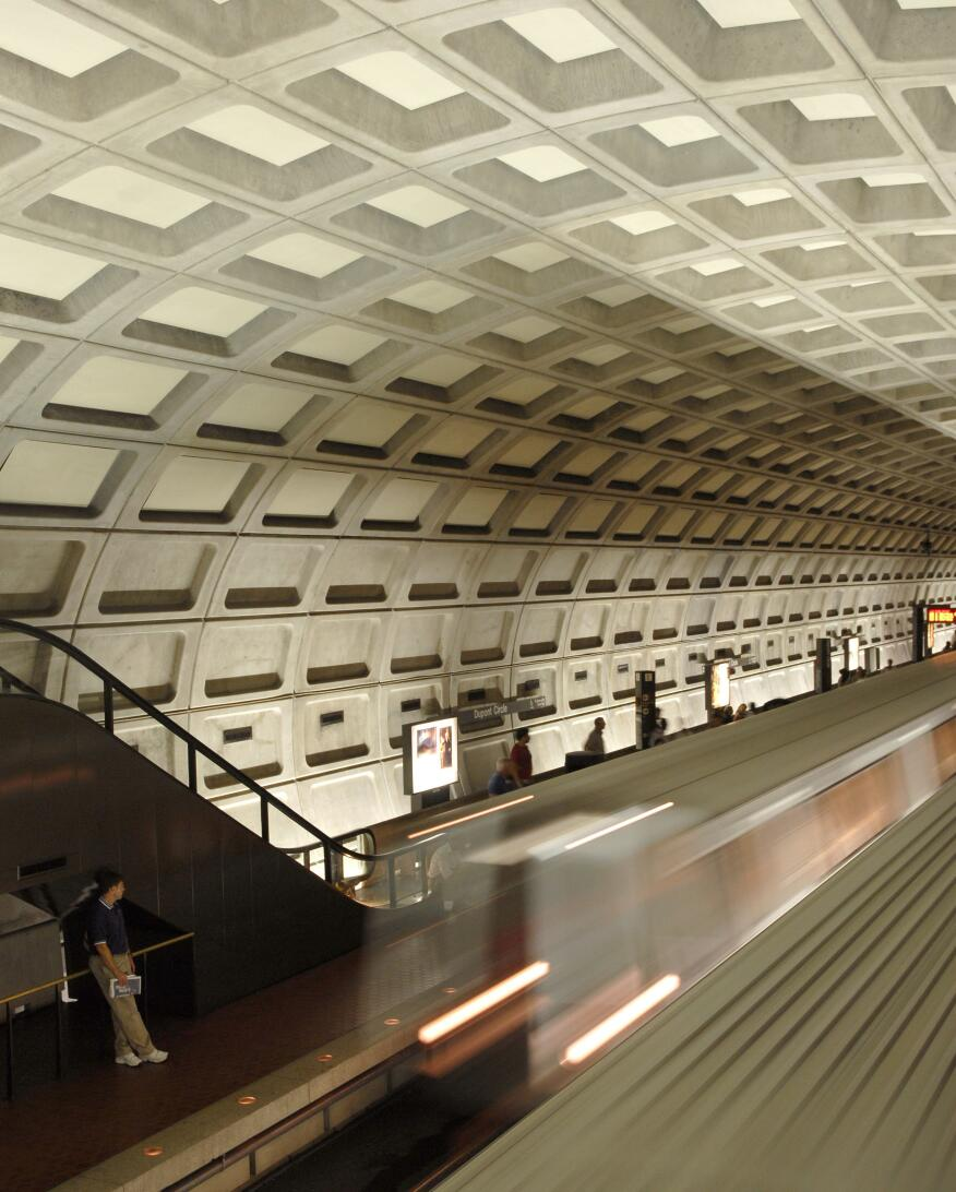 Dupont Circle station is one of the busiest in the Metro system. It opened in 1977, and remained the western terminus of the system until 1981.