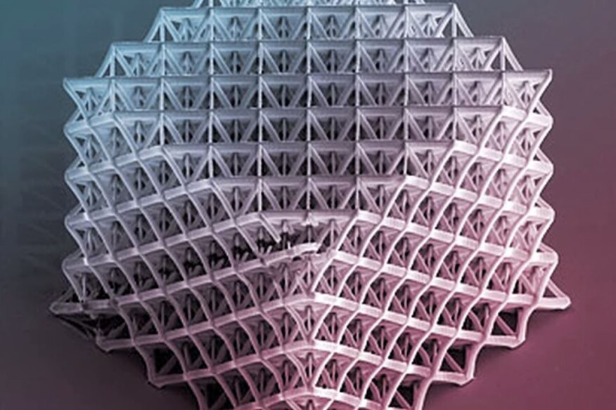 A nanotruss structure fabricated by Caltech researcher Julia Greer.