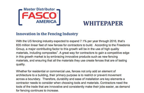 Innovation in the Fencing Industry