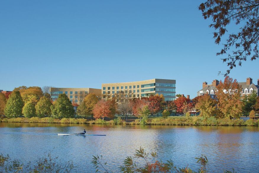 William Rawn Associates, Architects' Tata Hall overlooks the Charles River.