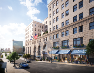 An exterior rendering of CBD Cincinnati