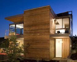 STANDARDIZED SUSTAINABILITY: The Ray Kappe 1 plan in LivingHomes' line of pre-fab houses is based on its Santa Monica model home, which is the nation's first house to achieve LEED Platinum status. It features an open main living space divided into a series of platforms.