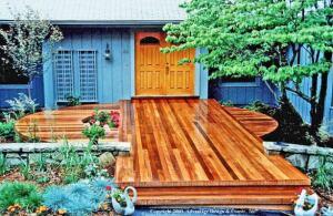 Beautiful mahogany decking.