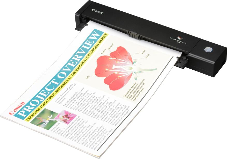 Canon's Image Formula P-208 features one-pass duplex scanning and has a document guide that holds up to 10 sheets of paper.