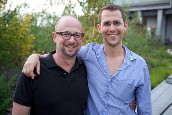 Joshua David, left, and Robert Hammond.