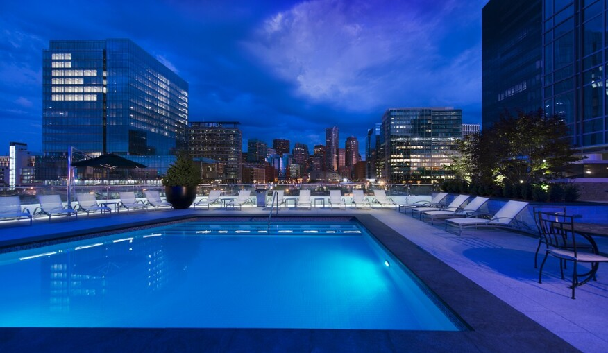 Pools have been an important amenity for decades. This UDR space in Boston provides a spot for residents to relax and take in the city skyline.