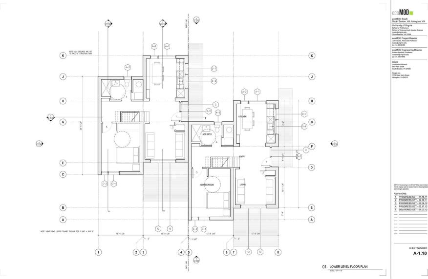 Lower-level floor plan.