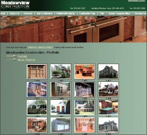 Improvements to Meadow-view Construction's Web site include a link to an image storage site for viewing project images, and the addition of forms and information for staff.