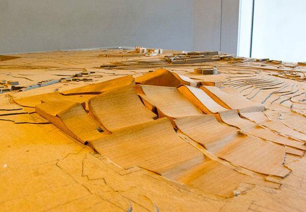 Eisenman's original model for the City of Culture.
