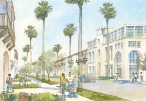 A $2 million investment from the new Equity with a Twist fund allows BRIDGE Housing to support its work to redevelop the Jordan Downs development  in Los Angeles (rendering above) and the Potrero Terrace and Annex in San Francisco,