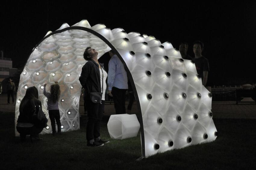 DesignLabWorkshop's Solar Bytes Pavilion Illuminates the Sun's Path