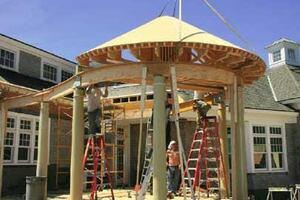 A Shop-Built Conical Roof