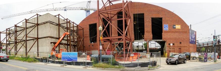 Uline Arena development, in August 2016