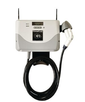 Coulomb Technologies.    Designed for residential and light commercial use, the CT500 Level II ChargePoint 7.2-kW vehicle charging station is compatible with electric cars that comply with the SAE J1772 plug-in electric vehicle charging standard. A card reader option is available to prevent energy theft. The compact unit is compatible with Levitons Evr-Green pre-wired mounting system, providing for simple plug-in installation. 408.841.4500. www.coulombtech.com.
