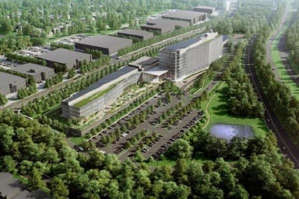 A rendering of LG's New Jersey campus