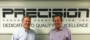 Tracy Pierce (left), Precision's vice president and  chief operating officer; and Leonard J. Moniz, CEO and president.