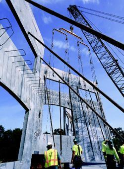 Safety at the tilt-up site does not end after panel erection. Proper bracing is also a critical safety element.