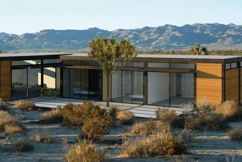LivingHomes' new, less-expensive line of modern prefab houses.