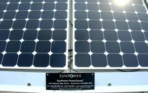 The solar array, designed and installed by San Jose-based SunPower, is comprised of 891 individual photovoltaic modules, each with an efficiency of 18.5 percent, among the highest efficiency modules available.