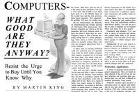Computers: What Good Are They Anyway?