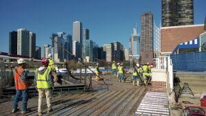 The Chicago skyline is CEO Rey Rivera Jr.'s favorite backdrop for a concrete pour.