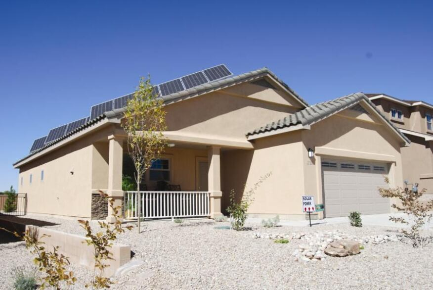 MOVING TO ZERO: An improved version of its net–zero-energy model in Rio Rancho, N.M., is what Artistic Homes expects to be building and selling exclusively in the future.