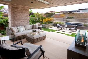 """Like many landscape designers, Kate Wiseman showcases her work on Houzz, where those searching for inspiration or someone to hire for their project can view work completed by her firm, Sage Outdoor Designs. Of all the questions she is asked by Houzz users about this project, the most popular is regarding the hardscape material. """"It's integral colored concrete. That's all,"""" she says with a laugh."""