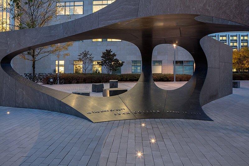 Granite blocks form the memorial.