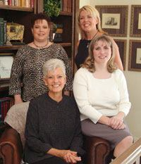 Clockwise from upper left: Susan Carroll, Carolyn Dahan, Wendy Walker, and Patti Shaw.
