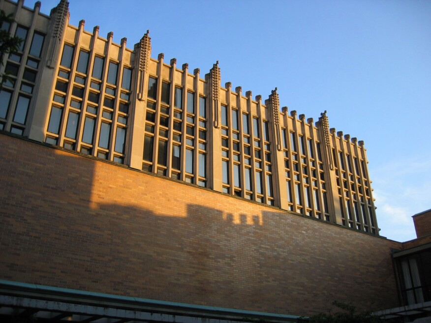 Exterior of the Massey dining hall
