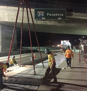 Not only do the slabs install quickly, minimizing closures and exposure of crews to live traffic, they can be installed in any weather and last a long time, an estimated 50 years.