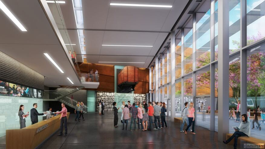 Conceptual rendering of lobby view.