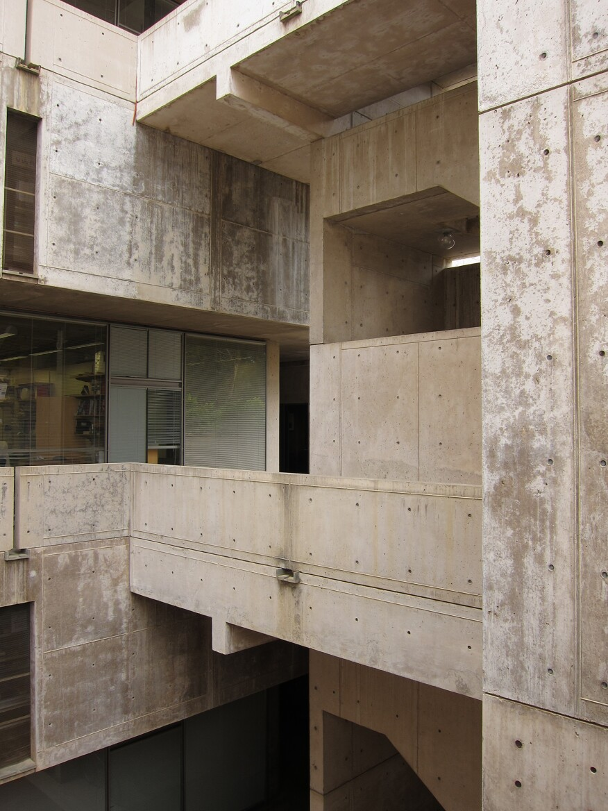 Salk Institute detail from 2011